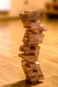 Jenga puzzle out of alignment