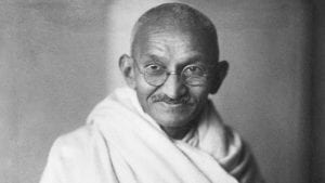 The personification of Ahimsa, Mahatma Gandhi