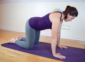 table top position common in Pilates and yoga
