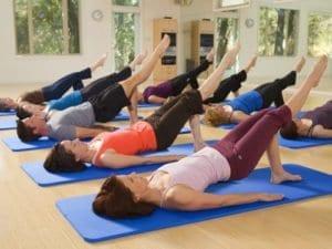 teaching Pilates mat class