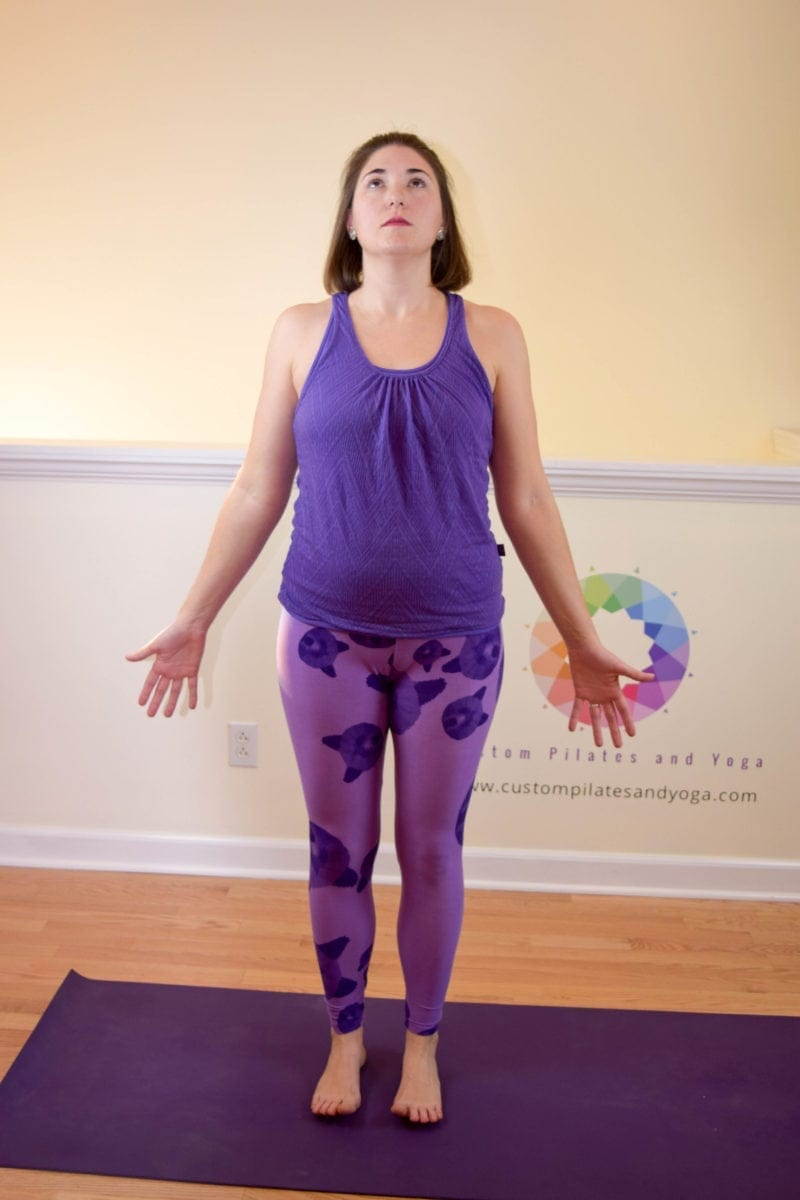 Tadasana with spinal extension