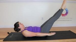 a picture of the classic version of the Pilates Hundred exercise