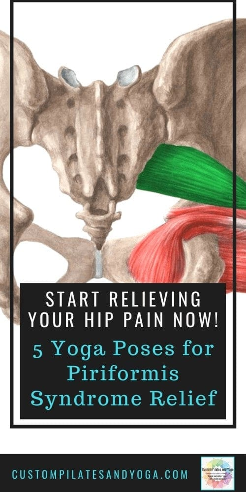 pin to a post about yoga poses to help relieve piriformis syndrome