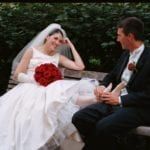 wedding day foot massage