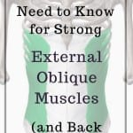 a pin for a post about external oblique muscles and how they can relieve low back pain