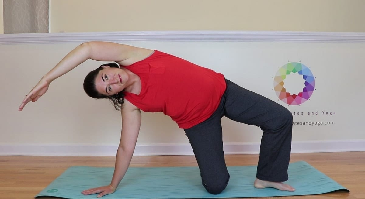 lifting into side bend pilates prep