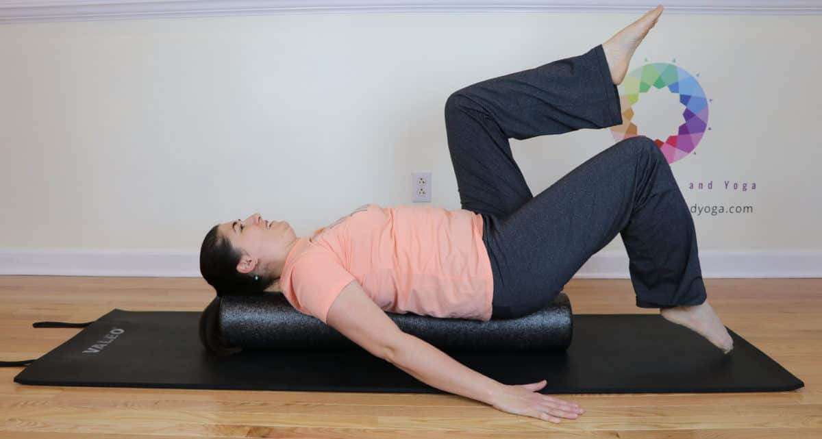 leg lifts on the foam roller
