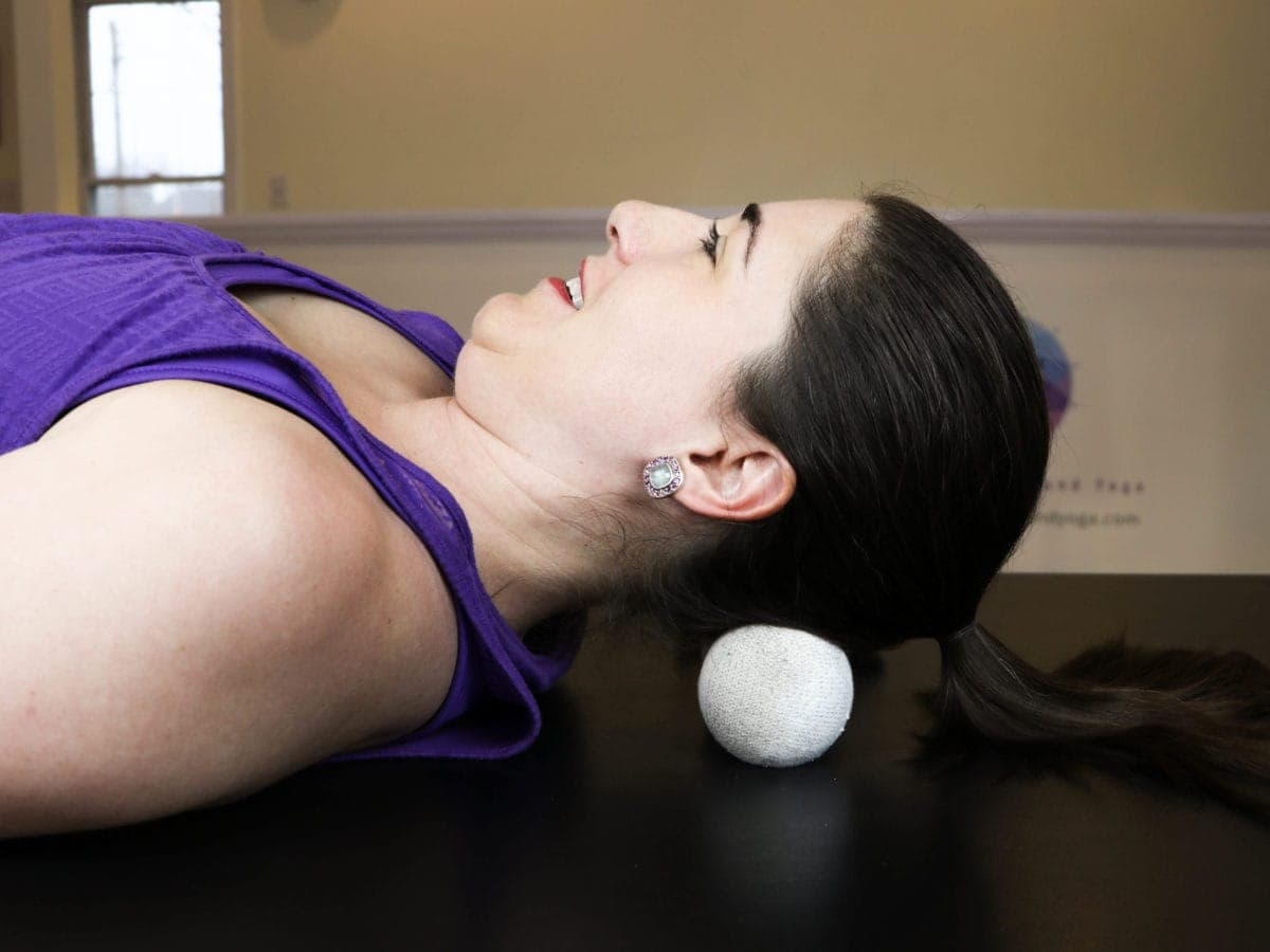 lacrosse ball skull massage