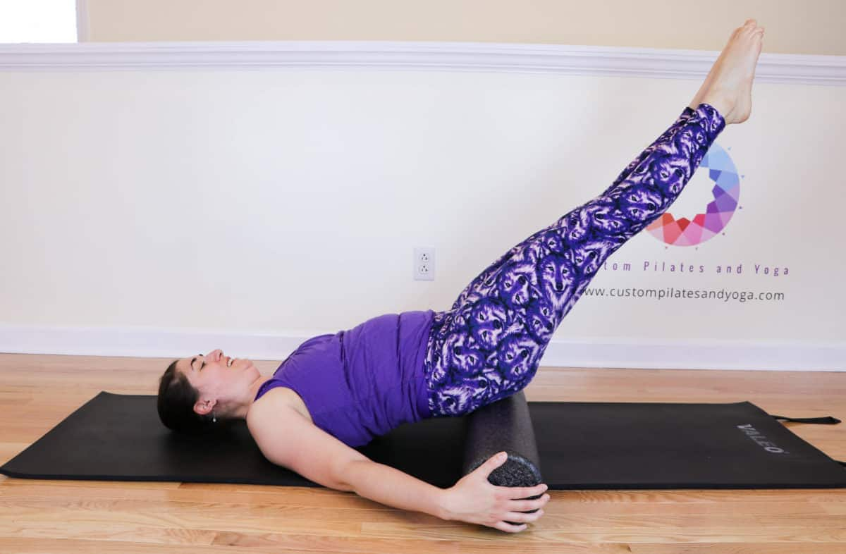 Bend and stretch on the foam roller