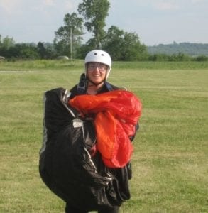Sarah skydiving