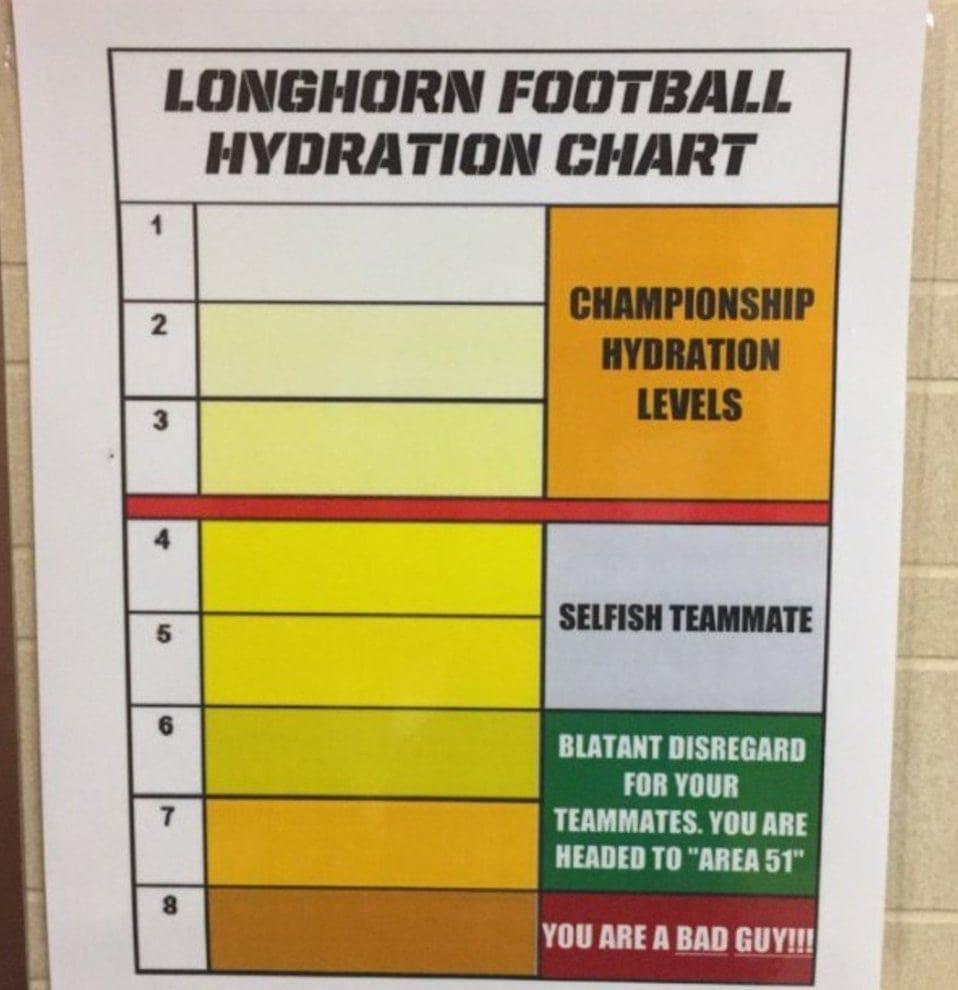 urine chart from UT
