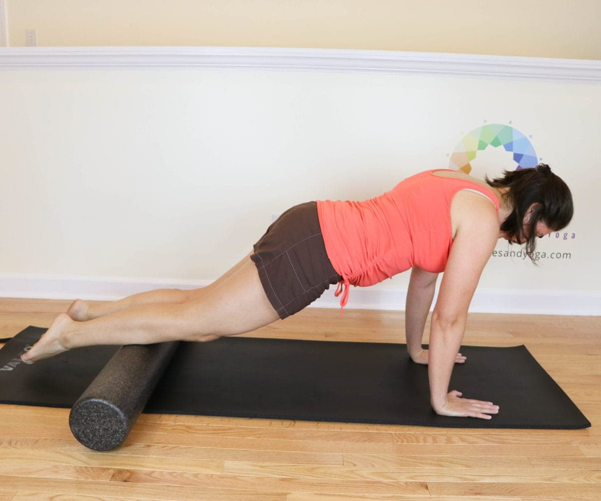 Plank with a foam roller
