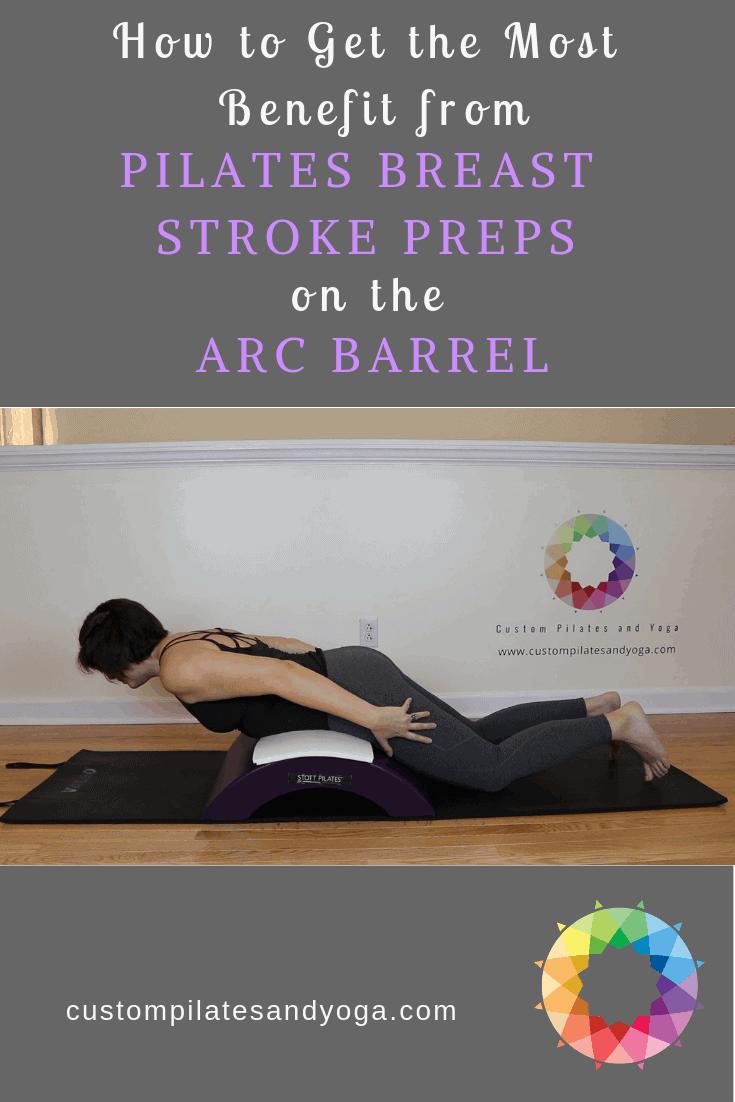 pilates breast stroke preps on the arc barrel