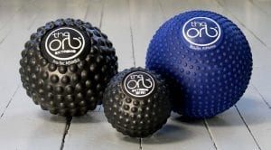 Use Orb massage balls to relieve sciatica hip pain