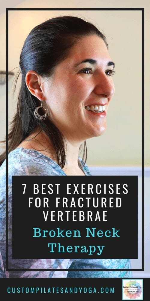 pin to a post about exercises to help someone recovering from a broken neck