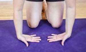 wrist stretch with fingers facing each other