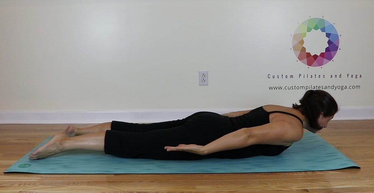 locust pose to relieve midback pain