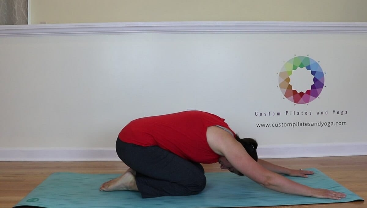 using shell stretch to relieve low back pain
