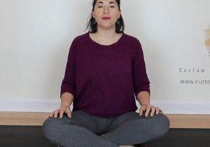 sarah stockett practicing pilates breathing