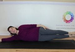 pilates side leg series legs and upper body lift