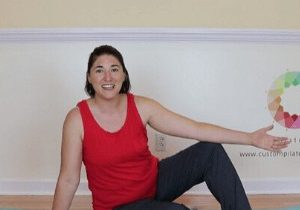 getting ready to lift into side bend pilates prep